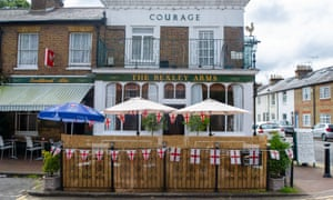 A pub in Windsor today ahead of tonight's England Euro 2020 final with Italy.