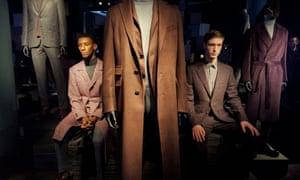 Models at the Canali presentation at Milan AW17 fashion week