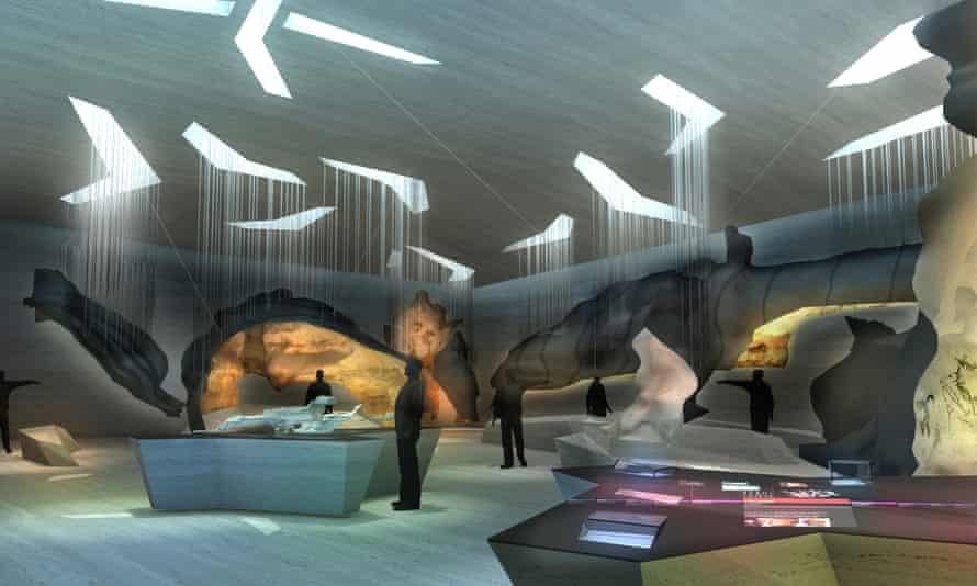 An exhibition space in Lascaux 4.