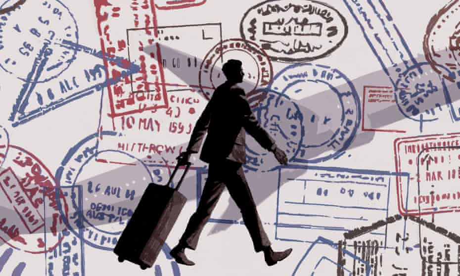 illustration: man with suitcase
