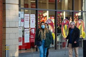 Shoppers in Slough, Berkshire, which is set to be put into England's Tier 3 'very high alert' level from when the current national lockdown ends on 2nd December.