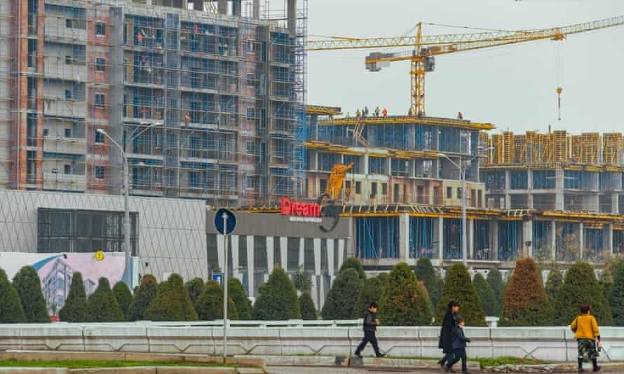 The Tashkent City property development project, which has seen hundreds of homes demolished in historic neighbourhoods.