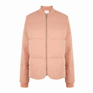 pale pink padded jacket Warehouse