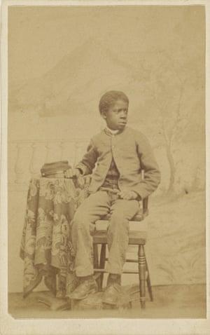 An African-American boy in uniform, 1870 - 1875