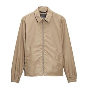 beige harrington jacket Next
