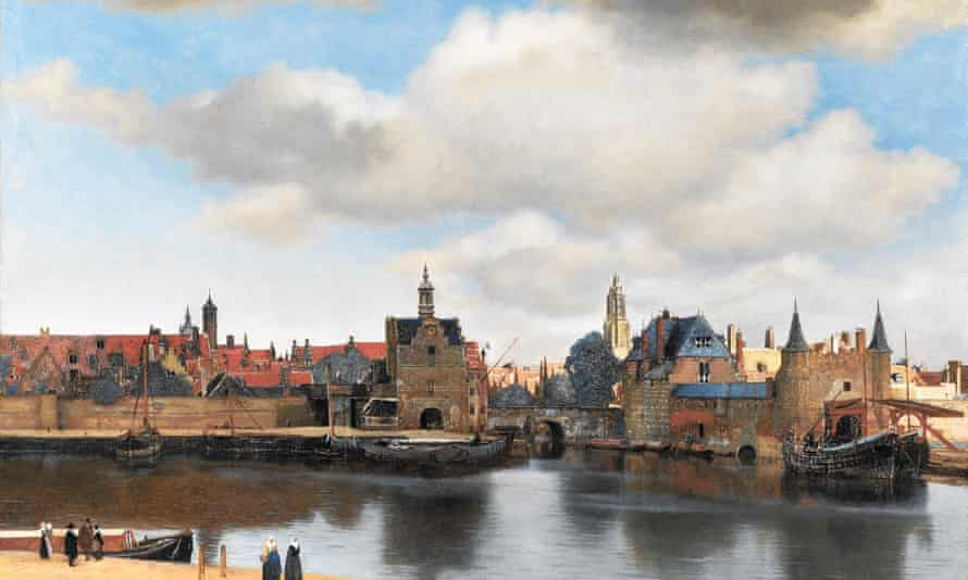 Detail from View of Delft by Johannes Vermeer