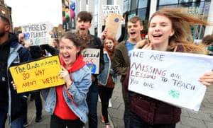 Demonstrations get under way in Canterbury, Kent. In the UK, events are taking place in about 100 towns and cities