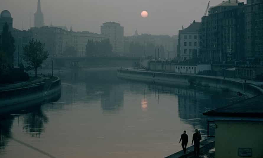 Danube Canal in Vienna during the second world war.