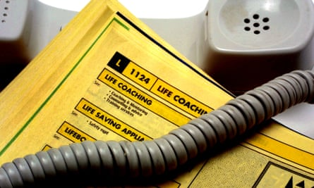 Yellow Pages open on 'L' listings