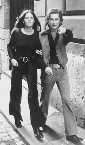 Robert Evans in Rome in 1971 with Ali MacGraw, the star of Love Story, who was the third of his seven wives.