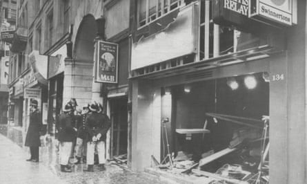 Scene at the Tavern in the Town in Birmingham after the bombing