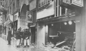 The Tavern in the Town in Birmingham after being bombed