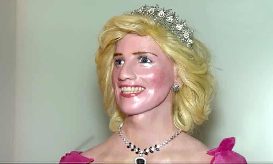 A sculpture of Princess Diana.