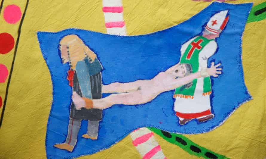 Detail from a marching banner for the Artists' Campaign to Repeal the Eighth Amendment Banner, by Alice Maher, Rachel Fallon and Breda Mayock.