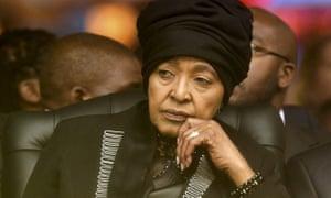 Madikizela-Mandela at Nelson Mandela's memorial service in December 2013