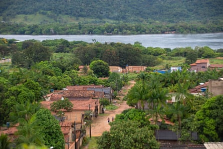 São Félix do Xingu with the Xingu River in the background.