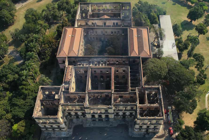An aerial view of the museum on 3 September.