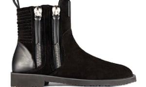 double-zip boots in Malik's Giuseppe Zanotti collection.