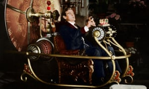 Travel in rococo style … Rod Taylor in the 1960 film adaptation of HG Wells's The Time Machine.