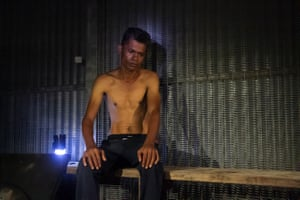 Joinul Islam in November, after he was attacked with a machete at Lorengau on Manus Island, and had his right arm seriously injured.