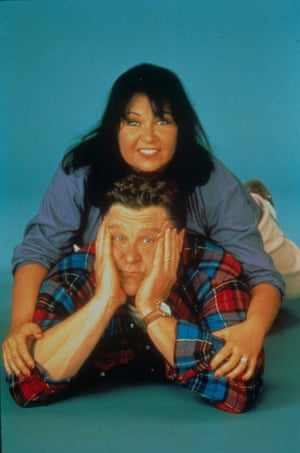 Roseanne Barr and John Goodman.