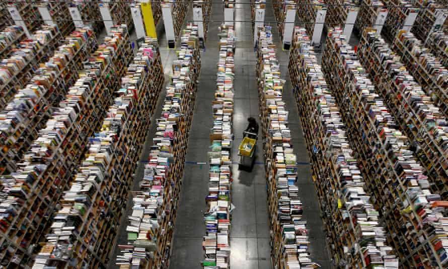 Inside Amazon distribution centre