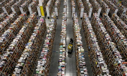 An Amazon warehouse in the US. Its arrival in Australia is likely to put pressure on local retailers to cut prices.