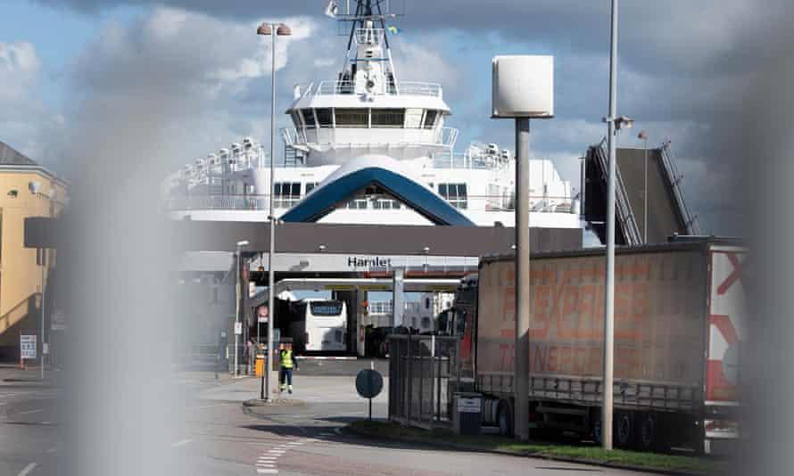 A ferry terminal at Helsingoer