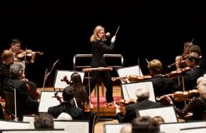 Mirga Gražinytė-Tyla conducting the CBSO, November 2016.