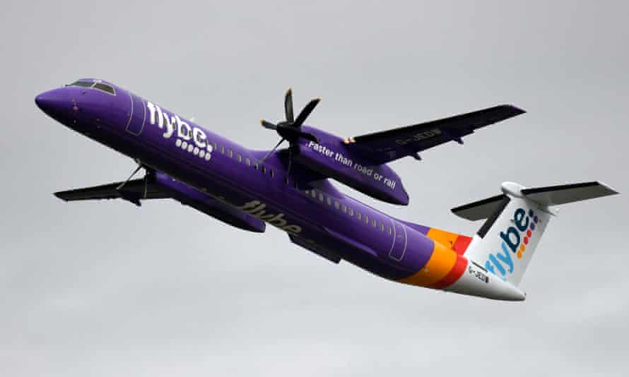 A Flybe airliner takes off at Dusseldorf, Germany.