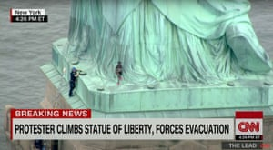 On July 4th, 2018, activist Patricia Okoumou scaled the Statue of Liberty to protest the separation of migrant families at the U.S.-Mexico border. She was sentenced to five years of probation and 200 hours of community service.