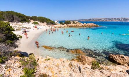 A beach on La Maddalena, Sardinia.