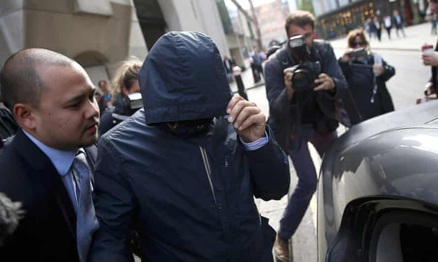 Journalist Mazher Mahmood, AKA the 'Fake Sheikh', who conducted pseudonymous stings on public figures, after his conviction at the Old Bailey this week.