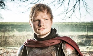 Heading to a Castle on the Hill? Ed Sheeran in Game of Thrones.