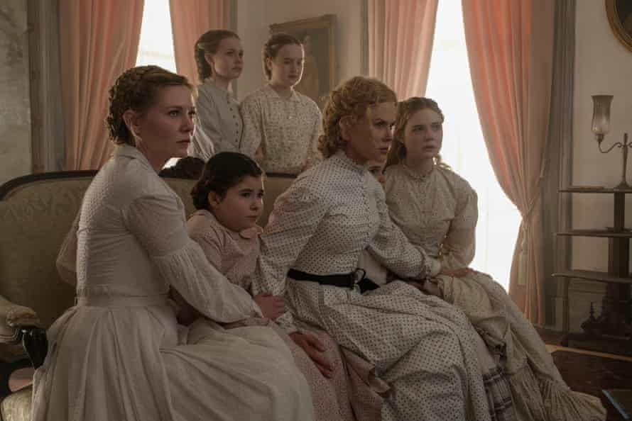 The Beguiled stars Coppola favourite Kirsten Dunst, left, and Nicole Kidman, centre.
