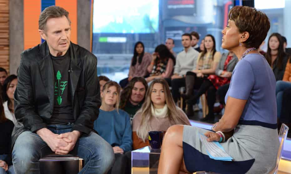 Liam Neeson speaks on Good Morning America after admitting that he had once gone out looking for a black man to murder.