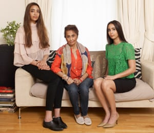 'I won't rest until the truth comes to the surface': Rabbiya Khan (centre) with Kavita and Karishma.