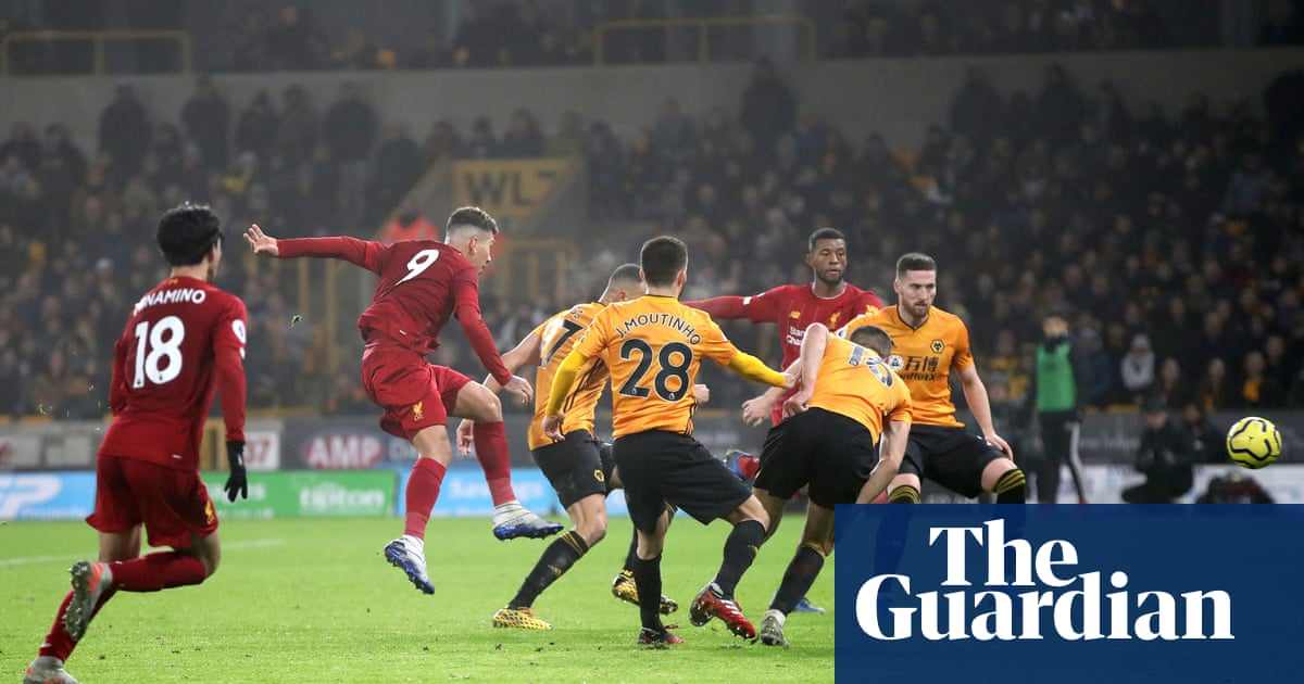 Roberto Firmino's late winner keeps Liverpool's freakish run going at Wolves