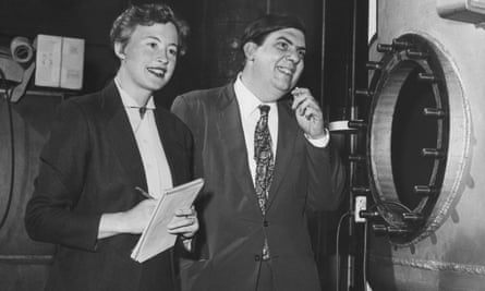 Margaret and Geoffrey Burbidge at Caltech, the California Institute of Technology in Pasadena, in 1956.