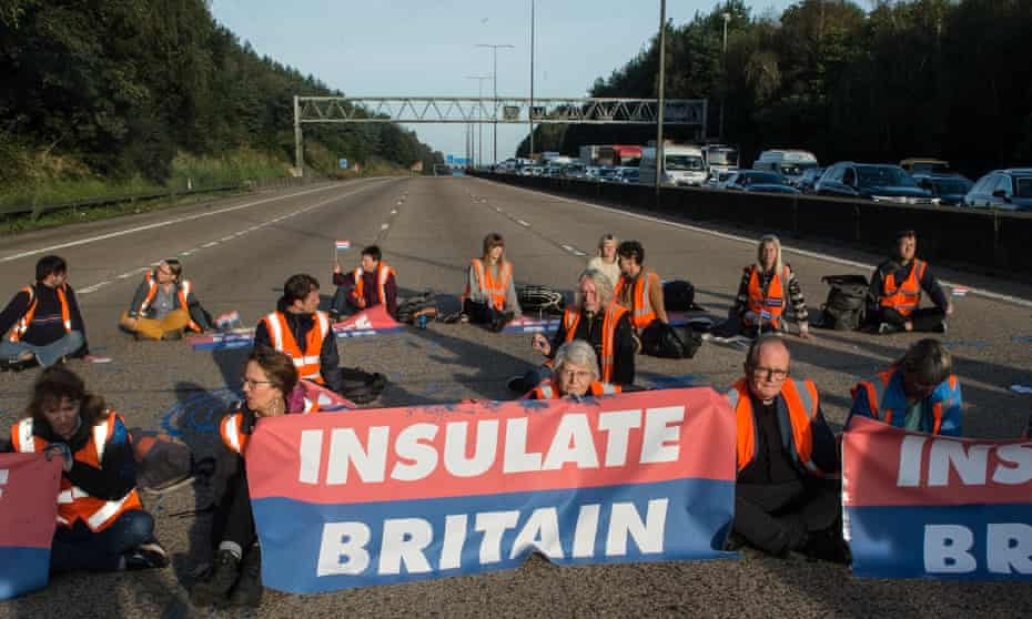 Insulate Britain campaigners blocked the M25 in both directions on Tuesday.