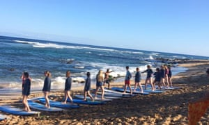 Buttons Surf School, Hawaii. from Facebook page.