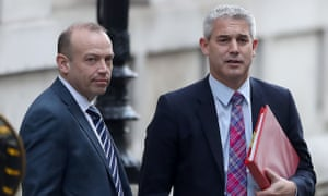Chris Heaton-Harris (left), who has resigned as a Brexit minister today, photographed in Downing Street last year with his then boss, Stephen Barclay, the Brexit secretary