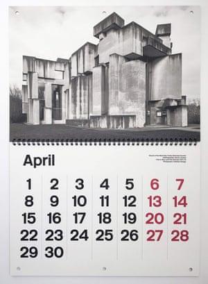 Brutalist Calendar