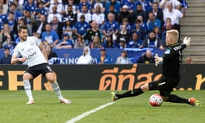 Kevin Mirallas shoots to score.