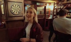 Saoirse Ronan in a scene from Ed Sheeran's Galway Girl video.