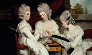 Joshua Reynolds' portrait of Walpole's nieces, 1781.