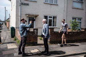 Labour party leader Jeremy Corbyn, out canvassing for the Peterborough by-election, stops to record a video for social media. The by-election was triggered by the removal of the former Labour MP Fiona Onasanya, after she was jailed for lying about a speeding offence. Labour hung on to the seat, beating the Brexit party by by 683 votes.