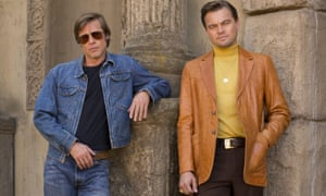 Charming but washed up ... Brad Pitt and Leonardo DiCaprio in Once Upon a Time in Hollywood.