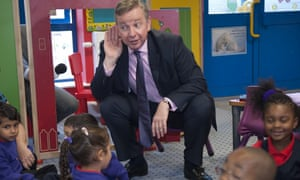 Michael Gove at a primary school is 2011