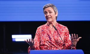 Margrethe Vestager in Brussels on the night of the European elections.